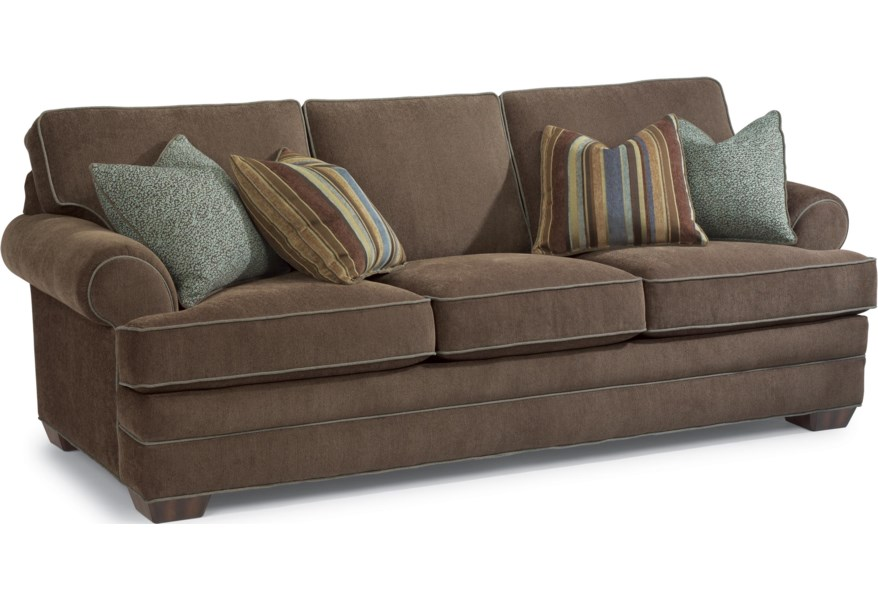 Superb Lehigh Sofa With Rolled Arms And Tapered Wood Feet By Flexsteel At Furniture And Appliancemart Creativecarmelina Interior Chair Design Creativecarmelinacom