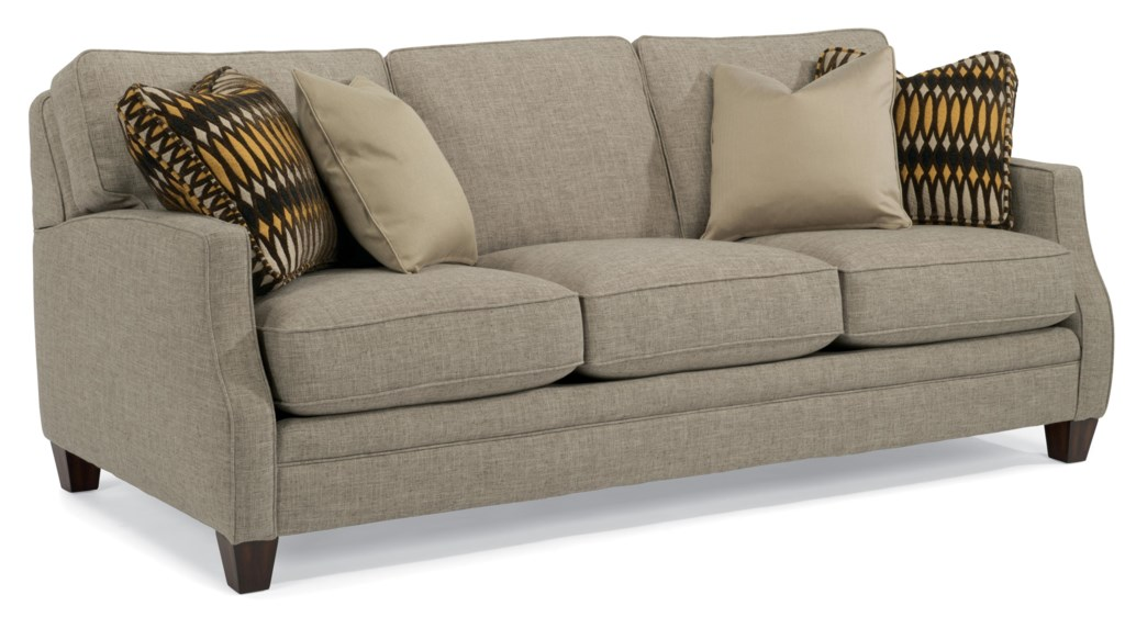 Flexsteel Lenox 7564 31 Transitional Sofa With Scalloped Arms  ~ What Is A Transitional Sofa