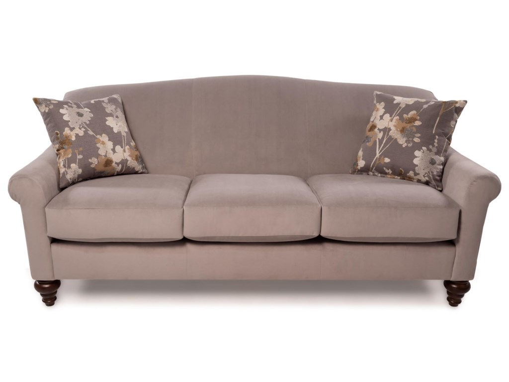 Grace Transitional Sofa With Turned Feet By Flexsteel At Rotmans