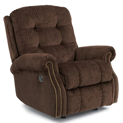 Flexsteel Mackenzi Casual Button Tufted Power Wall Recliner (with Nailheads)