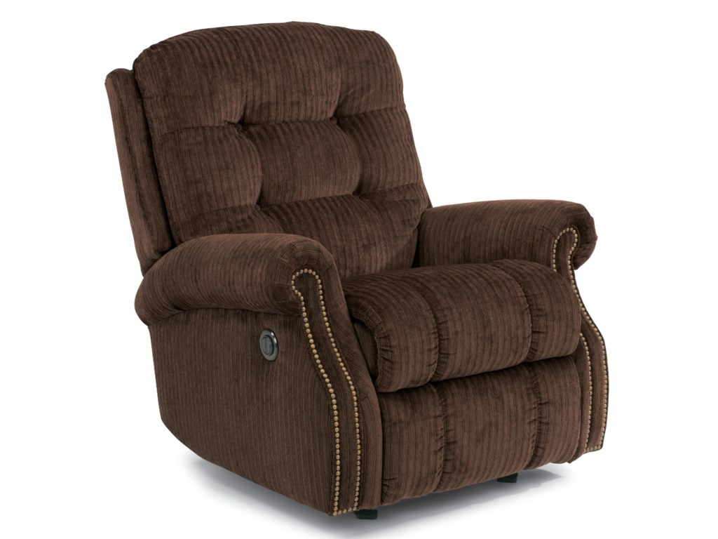 Flexsteel MackenziPower Wall Recliner (with Nailheads)