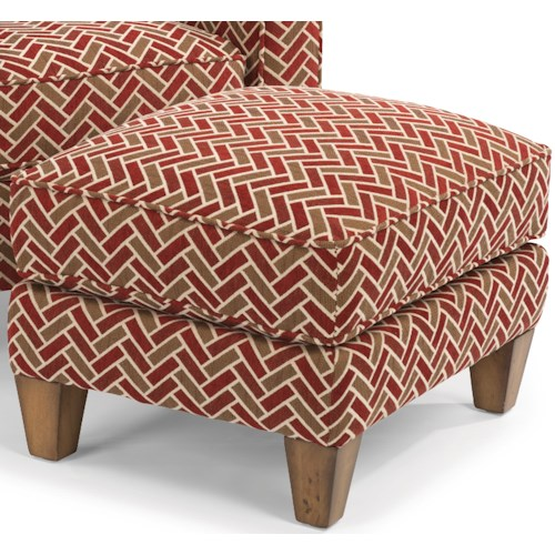Flexsteel MacLeran Upholstered Ottoman with Reversible Seat Cushions and Welt Cord Accent