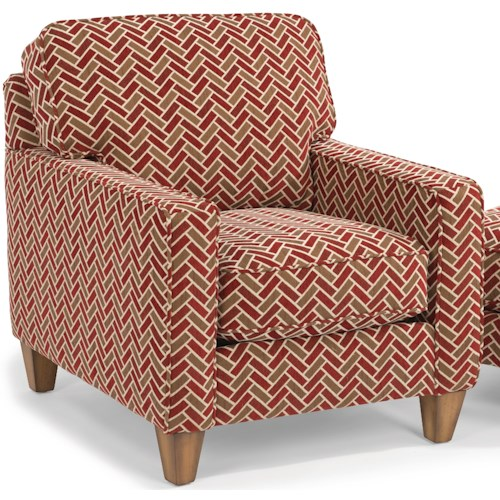 Flexsteel MacLeran Upholstered Chair with Reversible Seat Cushions and Welt Cord Accent