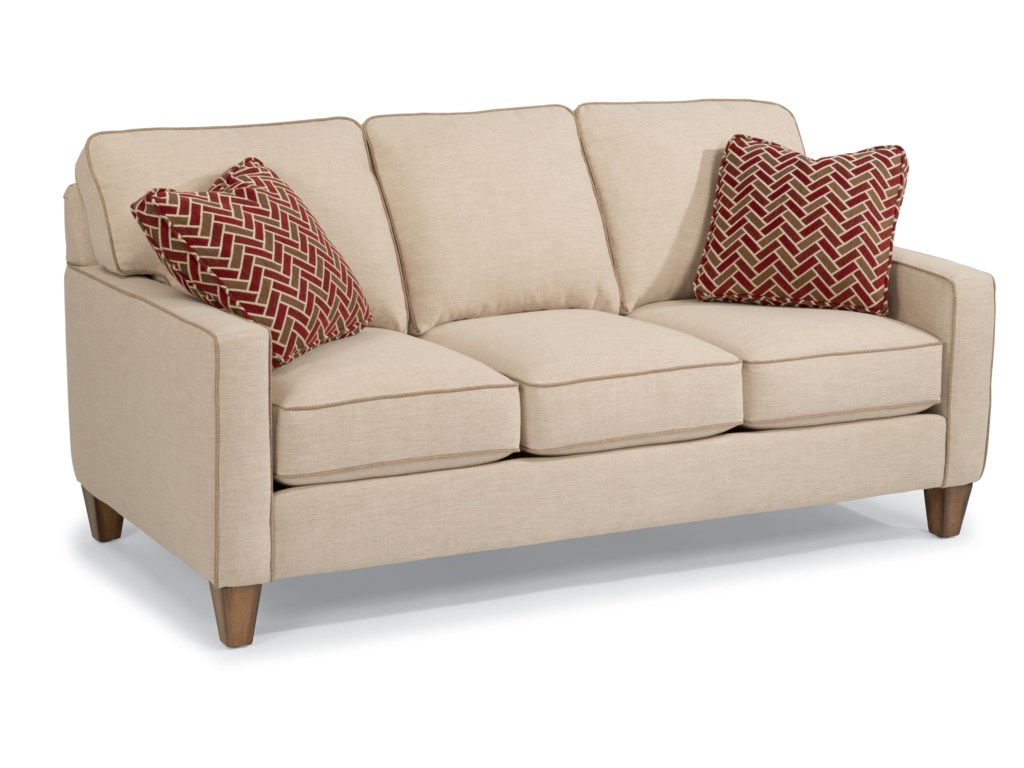 Flexsteel MacLeran Stationary Sofa with Reversible Seat Cushions and ...
