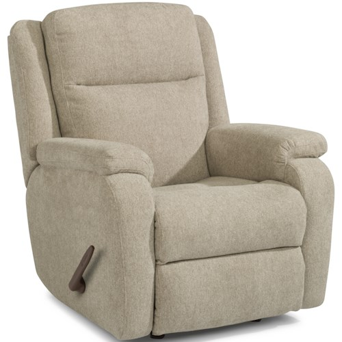 Flexsteel Magnus Casual Rocking Recliner with Pillow Arms