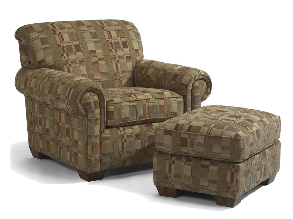 Ottoman Shown with Chair