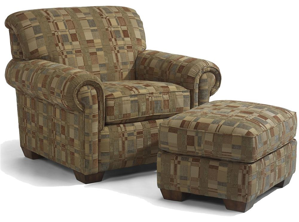 Chair Featured with Ottoman