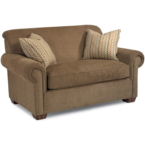Flexsteel Main Street Rolled Arm Twin Sofa Sleeper