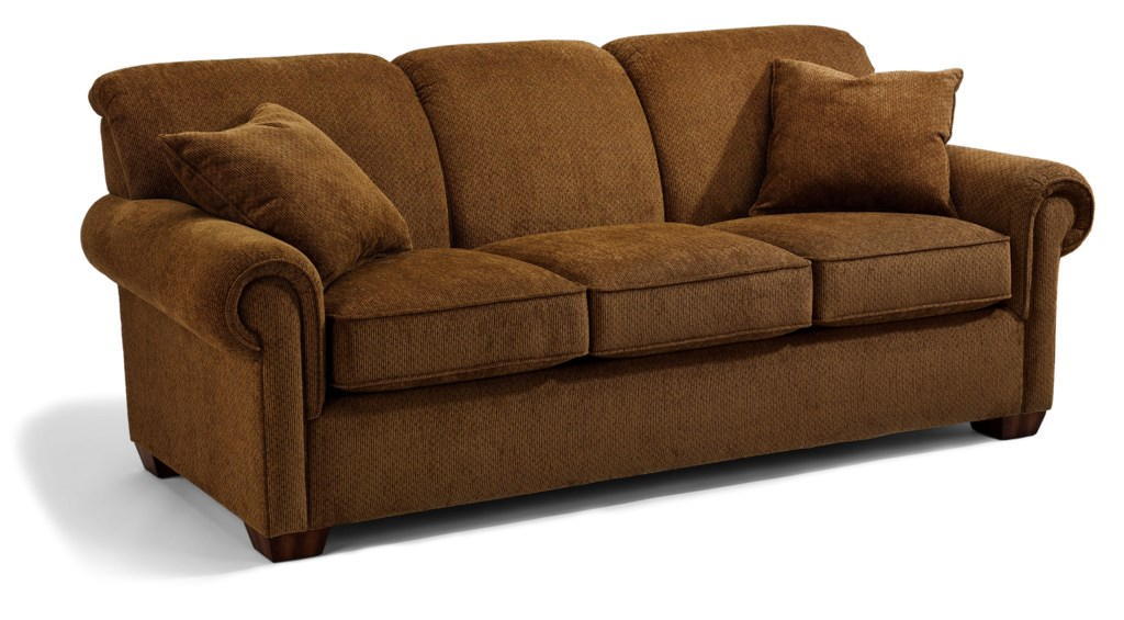 Flexsteel Main Street Rolled Arm Queen Sofa Sleeper - Dunk & Bright  Furniture - Sofa Sleeper