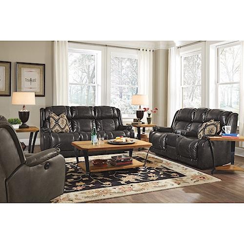 Flexsteel Marcus Reclining Living Room Group