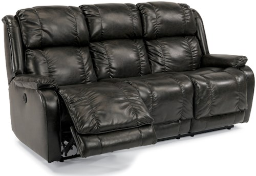 Flexsteel Marcus Power Reclining Sofa with Pillow Arms