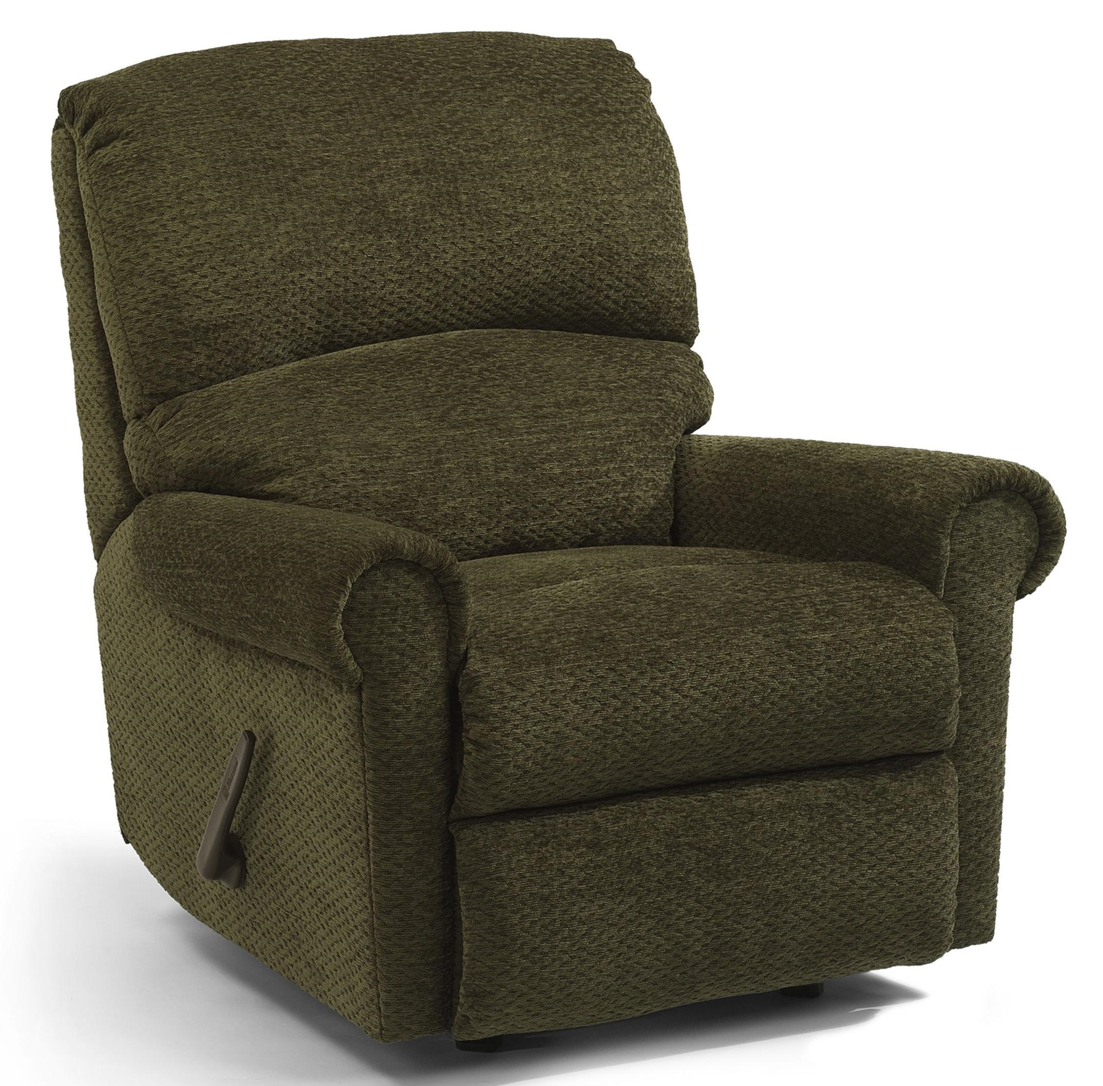 home decor furniture markham flexsteel markham swivel glider recliner with rolled arms 10988