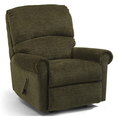 Flexsteel Markham Rocker Recliner with Rolled Arms