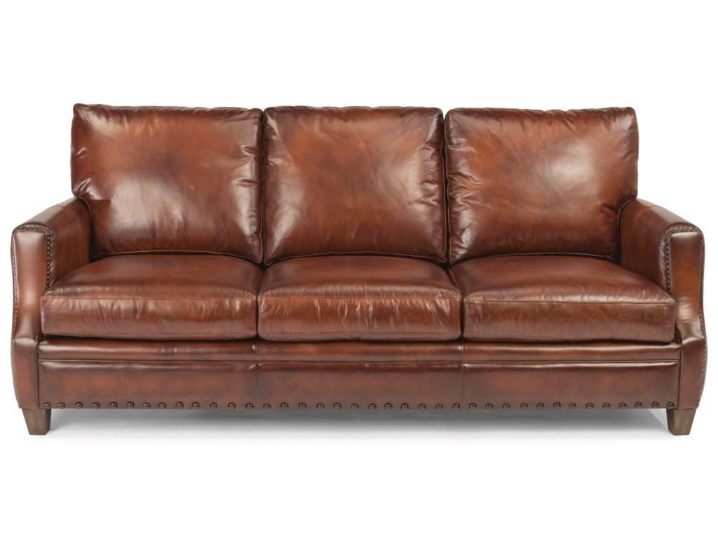 Flexsteel Latitudes - Maxfield 1505-31 Rustic Leather Sofa with ...