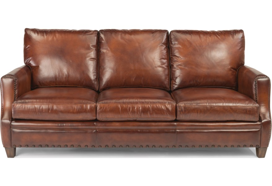 Maxfield Rustic Leather Sofa With