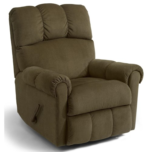 Flexsteel McGee Casual Recliner with Channel Tufted Back