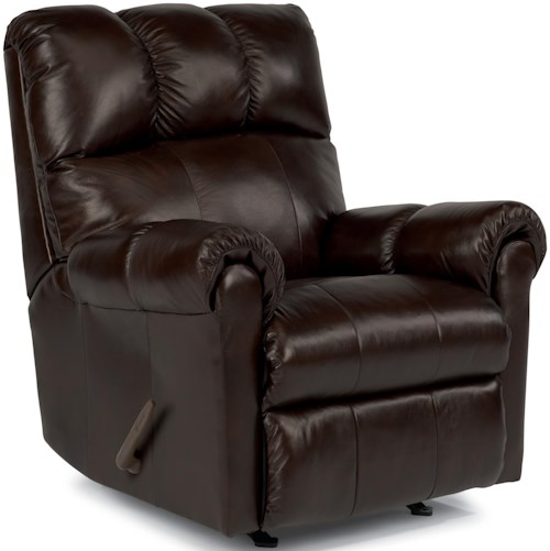 Flexsteel McGee Casual Swivel Glider Recliner with Channel Tufted Back