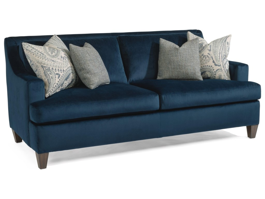 Flexsteel Mulberry 7101-31 Contemporary Small Scale 2-Seater Sofa ...