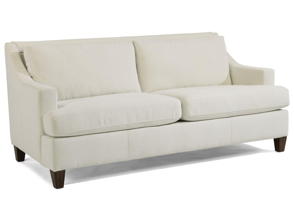 Flexsteel Mulberry Contemporary Small Scale 2-Seater Sofa | Wayside ...