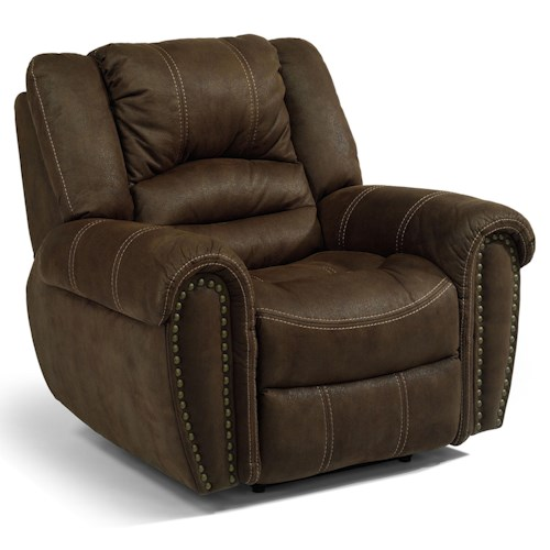 Flexsteel Latitudes - New Town Power Wall-Saver Reclining Chair with Nailhead Trim