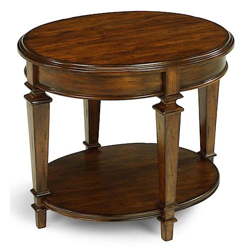 Flexsteel Oakbrook Oval Traditional Wooden End Table