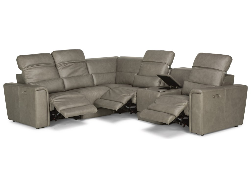 Flexsteel Latitudes - Omega6 Piece Power Reclining Sectional