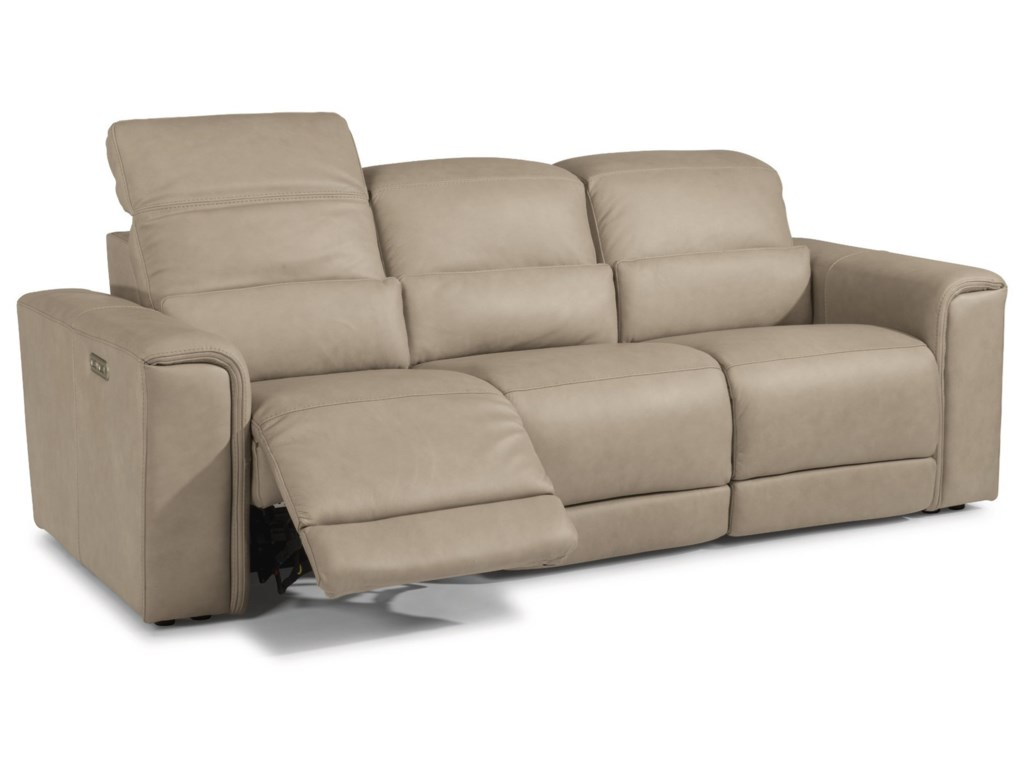 Flexsteel Latitudes - OmegaPower Reclining Sofa with Power Headrests