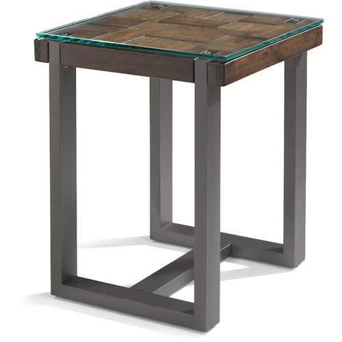 Flexsteel Patchwork Chair Side Table