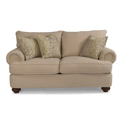 Flexsteel Patterson  Loveseat with Rolled Arms
