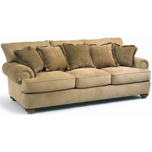 Flexsteel Vail Sofa Review: Flexsteel Patterson Stationary Sofa With Rolled Arms