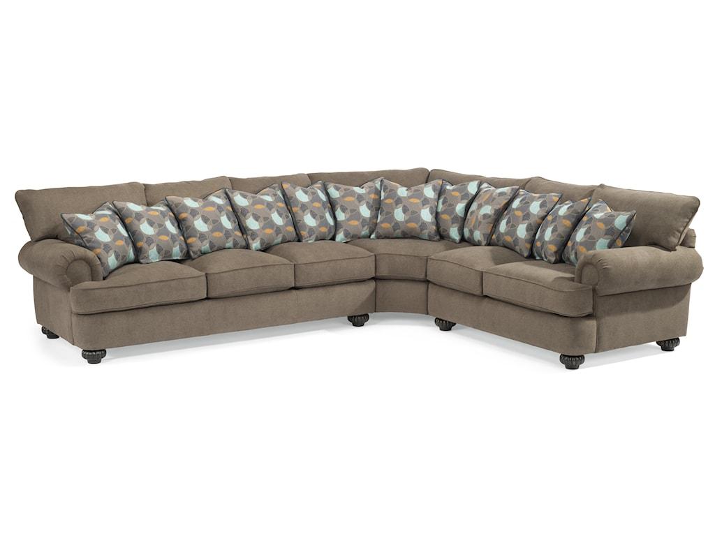 Flexsteel Sectional Sofa Laudes Port Royal Transitional