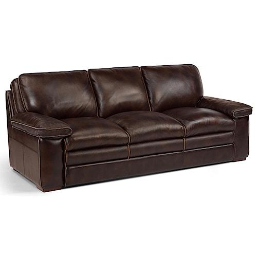 Flexsteel Latitudes - Penthouse Casual Sofa with Pillow-Top Seating