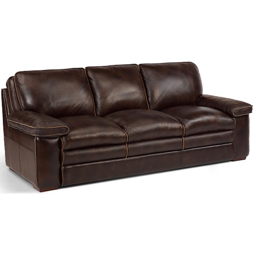 Flexsteel Laudes Casual Sofa With Pillow Top Seating