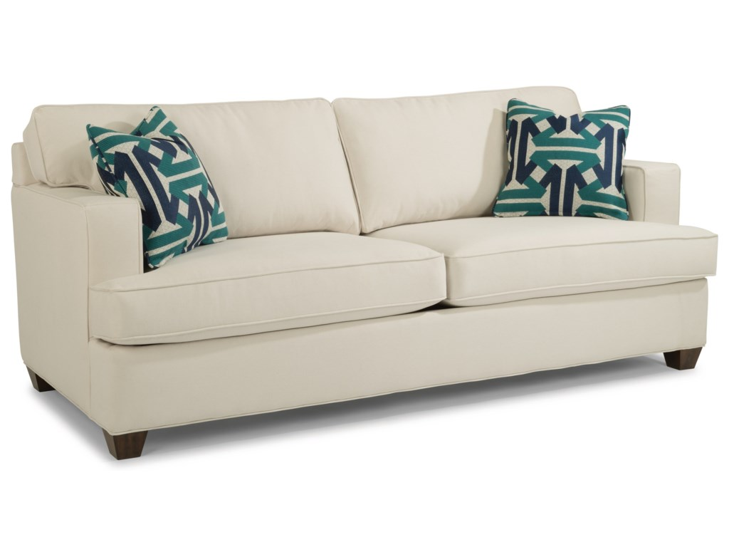 Flexsteel Pierce 5361-30 Contemporary Two Cushion Sofa with Track ...