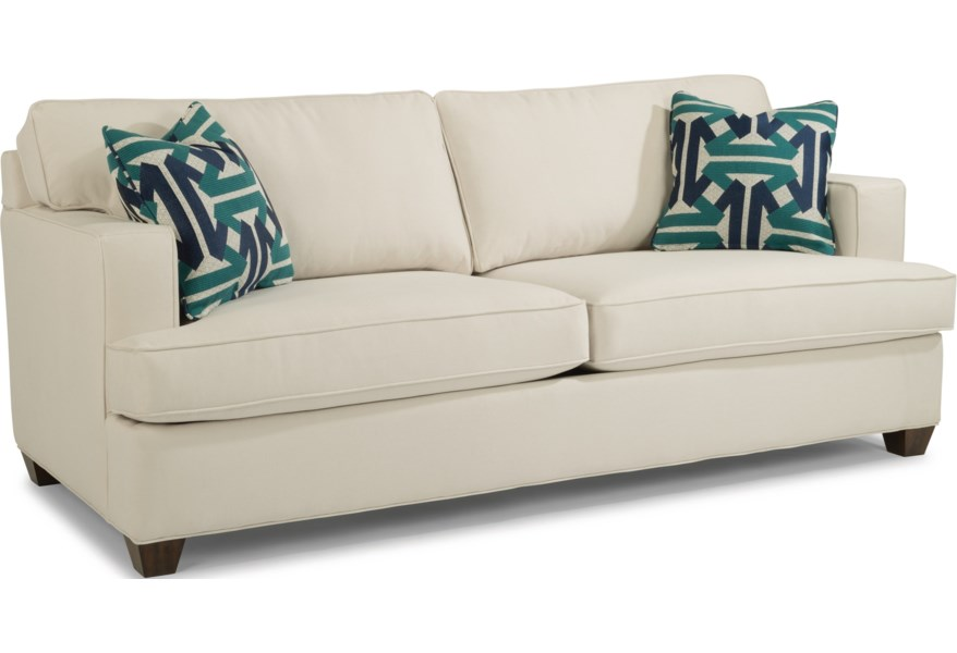 Pierce Contemporary Two Cushion Sofa With Track Arms By Flexsteel At Virginia Furniture Market