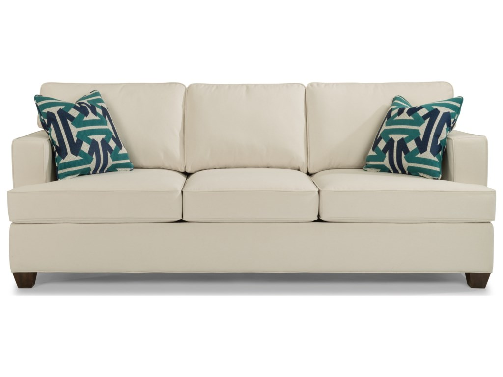 Flexsteel Pierce 5361-31 Contemporary Sofa with Track Arms | Dunk ...
