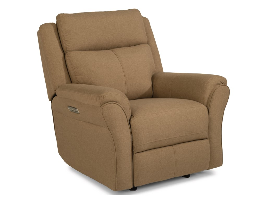 Flexsteel Latitudes-PikePower Gliding Recliner with Power Headrest