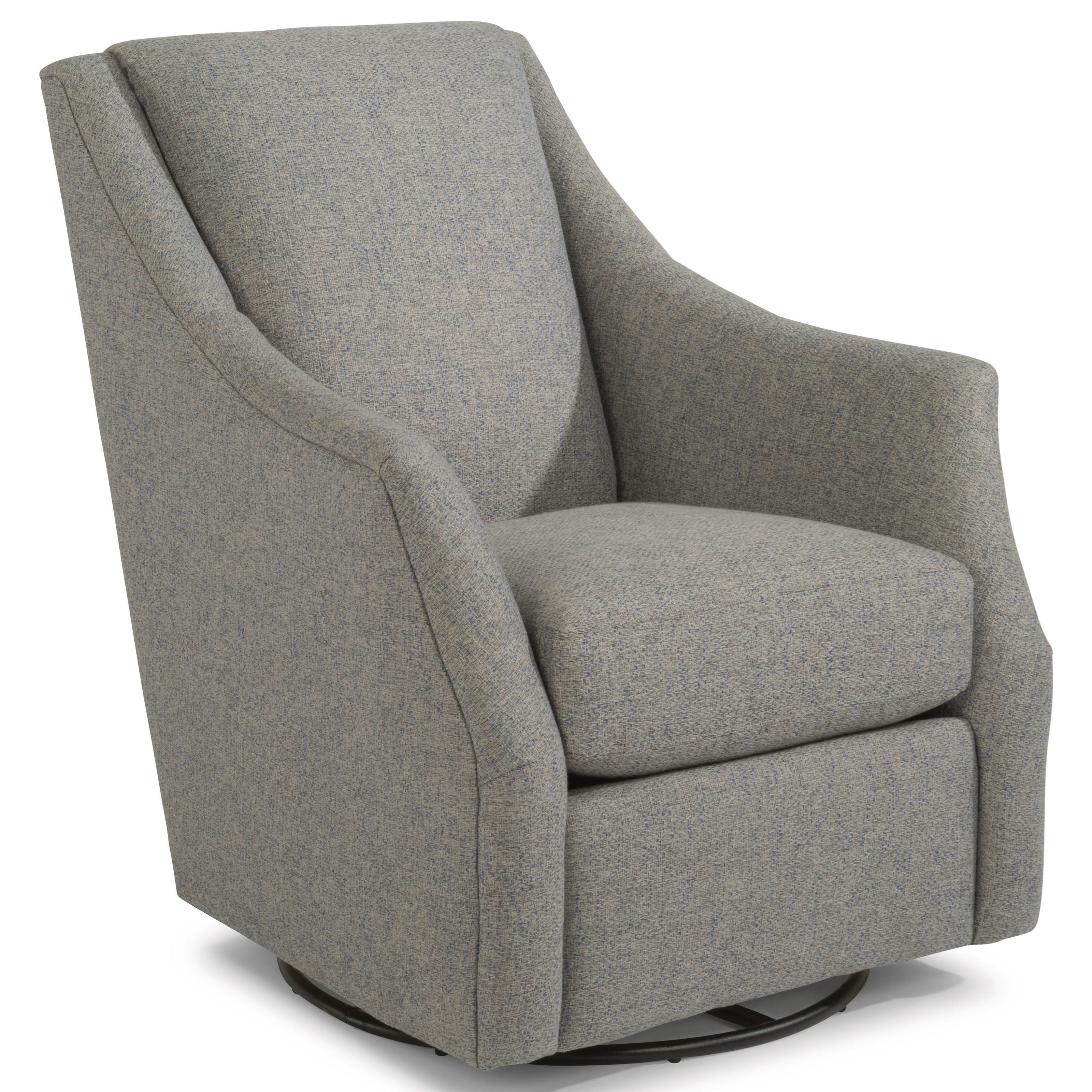 Incroyable Flexsteel Plymouth Transitional Swivel Chair With Plush Reversible Seat  Cushion