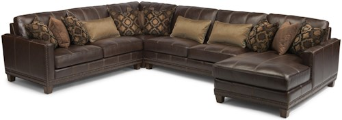 Flexsteel Latitudes - Port Royal Transitional Four Piece Sectional Sofa with RAF Chaise