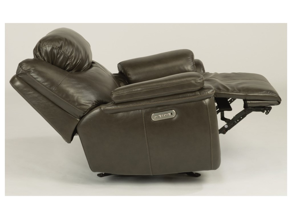 Flexsteel PorterPower Gliding Recliner with Power Headrest