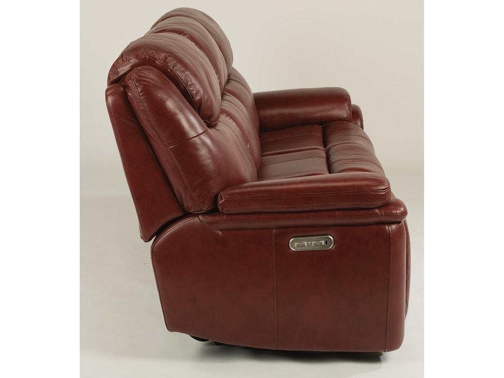 Flexsteel PorterPower Reclining Sofa with Power Headrests
