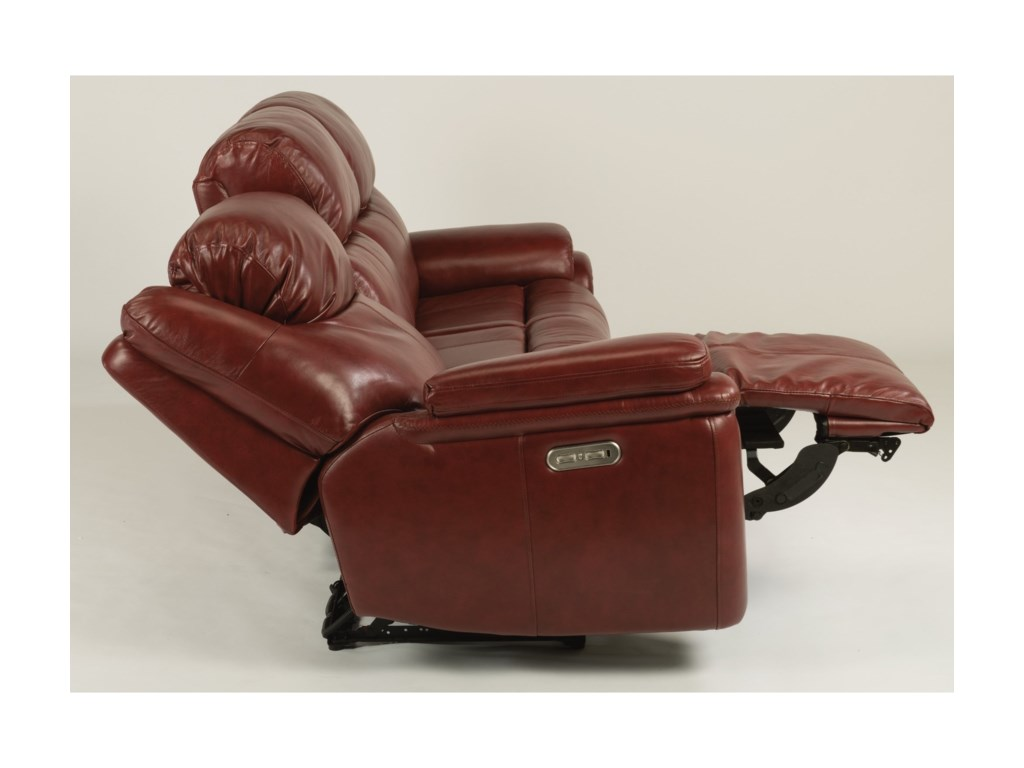 Flexsteel PorterPower Reclining Sofa with Power Headrests
