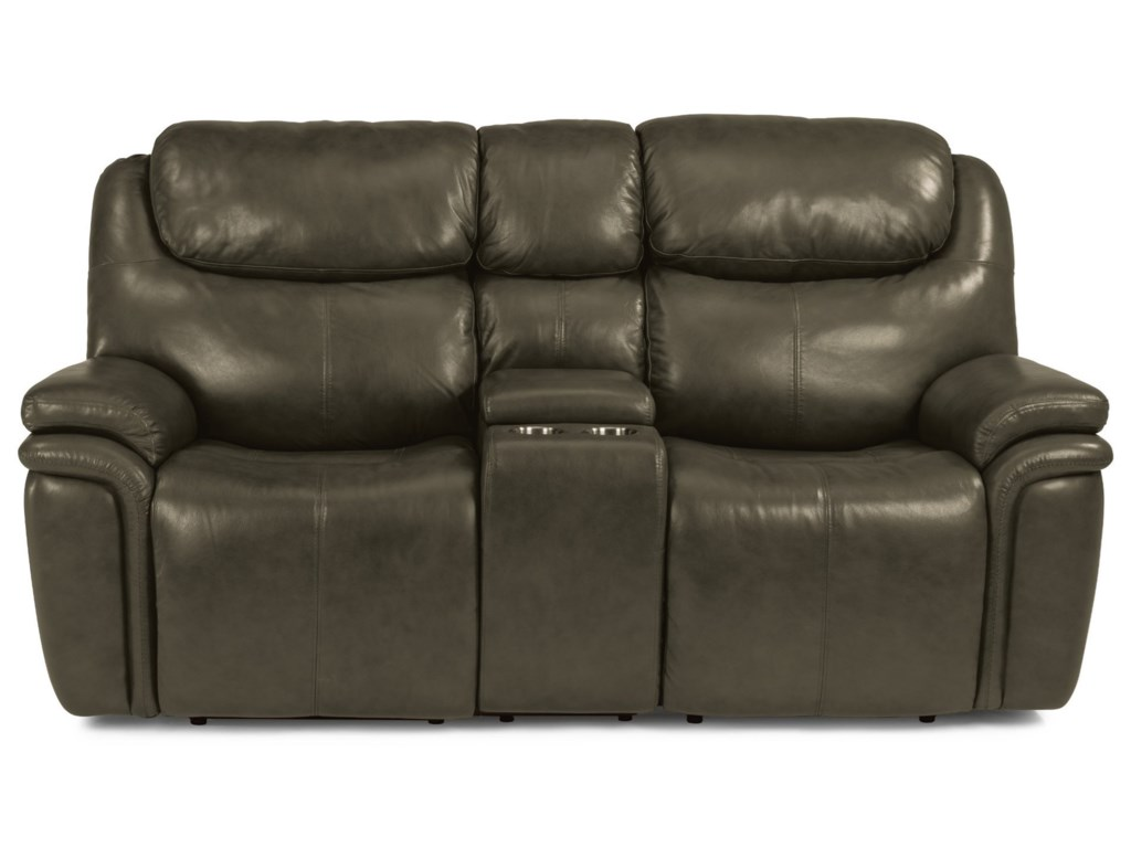 Flexsteel PorterPower Reclining Loveseat with Console