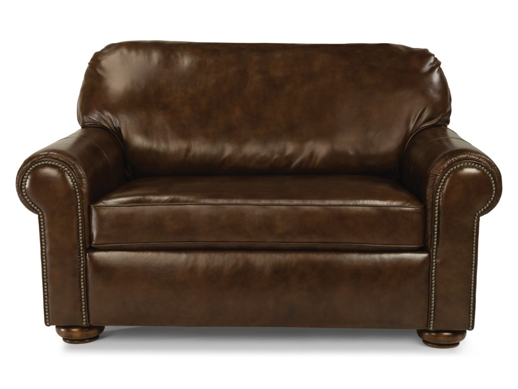 Flexsteel Preston 3536-41 Traditional Twin Sleeper Sofa with ...