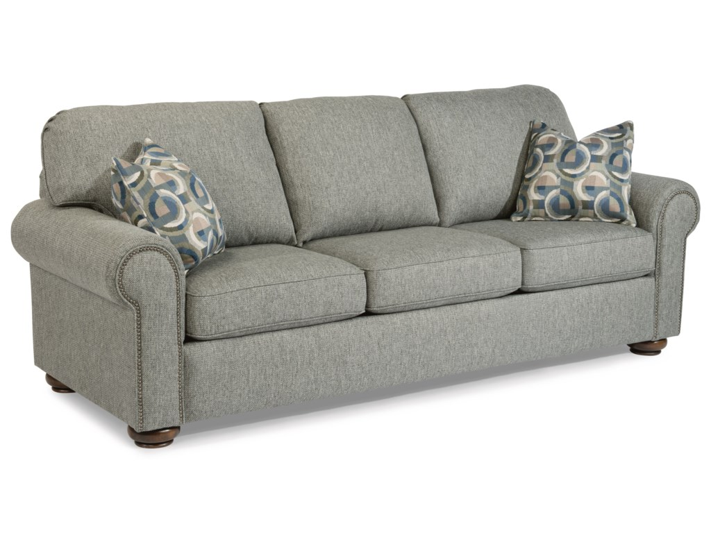 Flexsteel Preston 5536 31 Traditional Sofa With Nailhead Trim Dunk