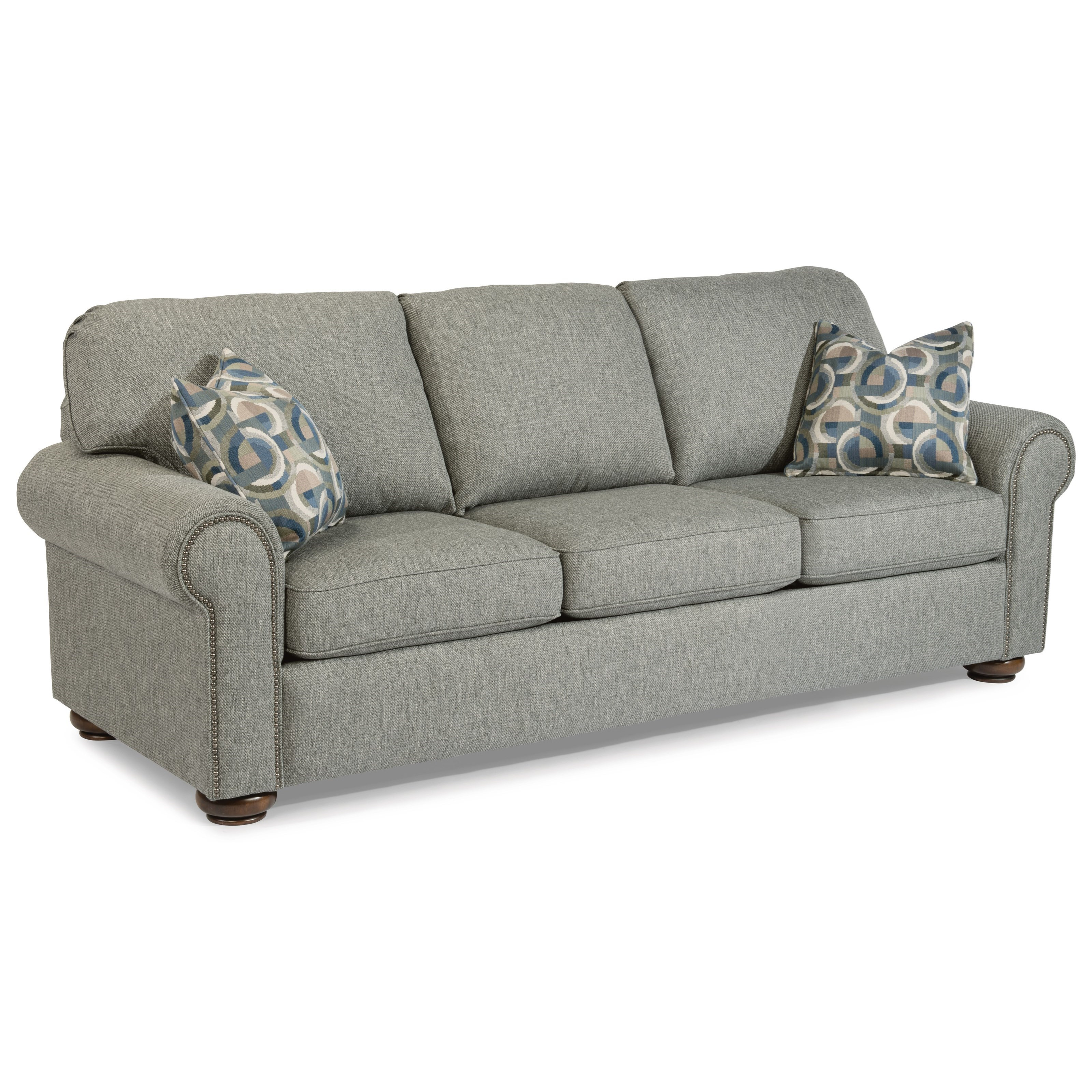 Traditional Queen Sleeper Sofa with Nailhead Trim