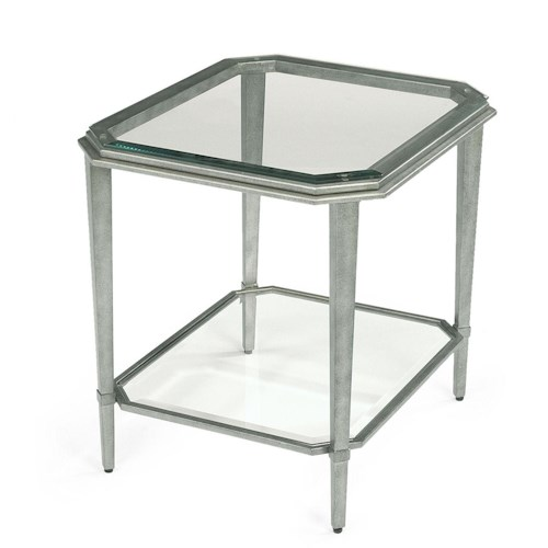 Flexsteel Prism Contemporary Glass End Table