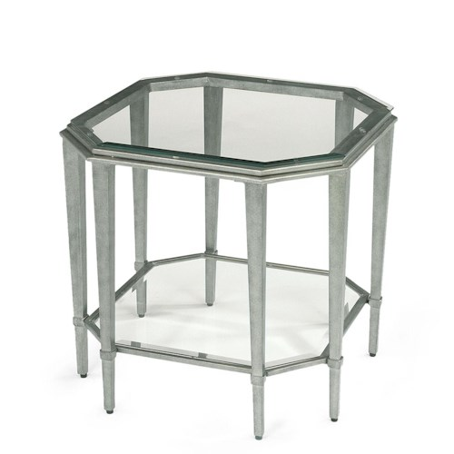 Flexsteel Prism Contemporary Glass Lamp Table