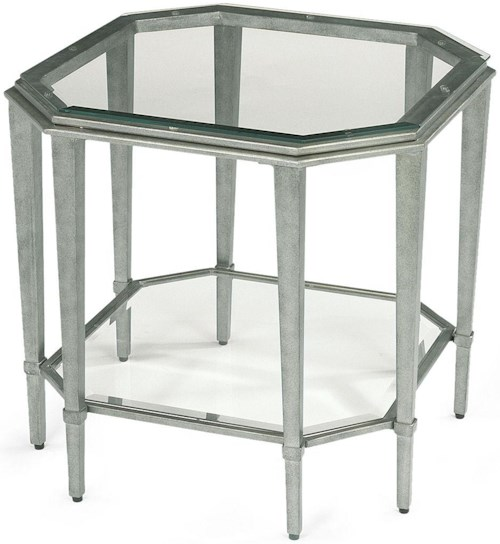 Flexsteel prism contemporary glass lamp table colder 39 s for Furniture 0 percent financing