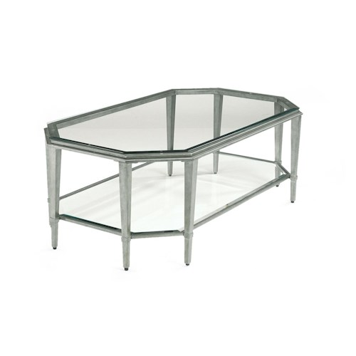 Flexsteel Prism Contemporary Rectangular Glass Cocktail Table